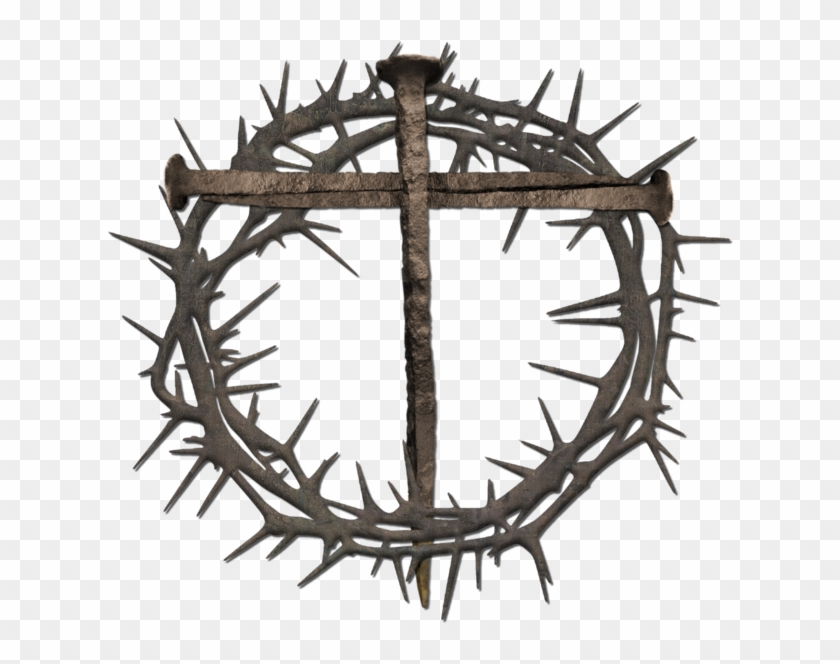 Lent cross with crown of thorns clipart jpg black and white library Lent Cross Png - Crown Of Thorns Clip Art, Transparent Png - 648x642 ... jpg black and white library