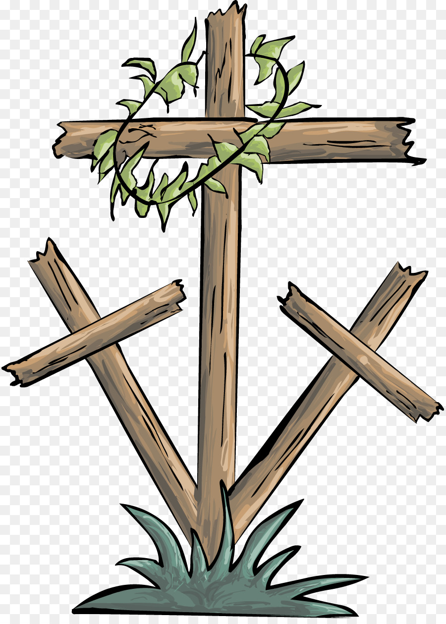 Lent cross with crown of thorns clipart clipart free stock Good Friday Christian cross Crown of thorns Clip art - christian cross clipart free stock