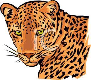 Leopard face clipart picture black and white download The Face of a Leopard Clip Art | Clipart Panda - Free Clipart Images picture black and white download