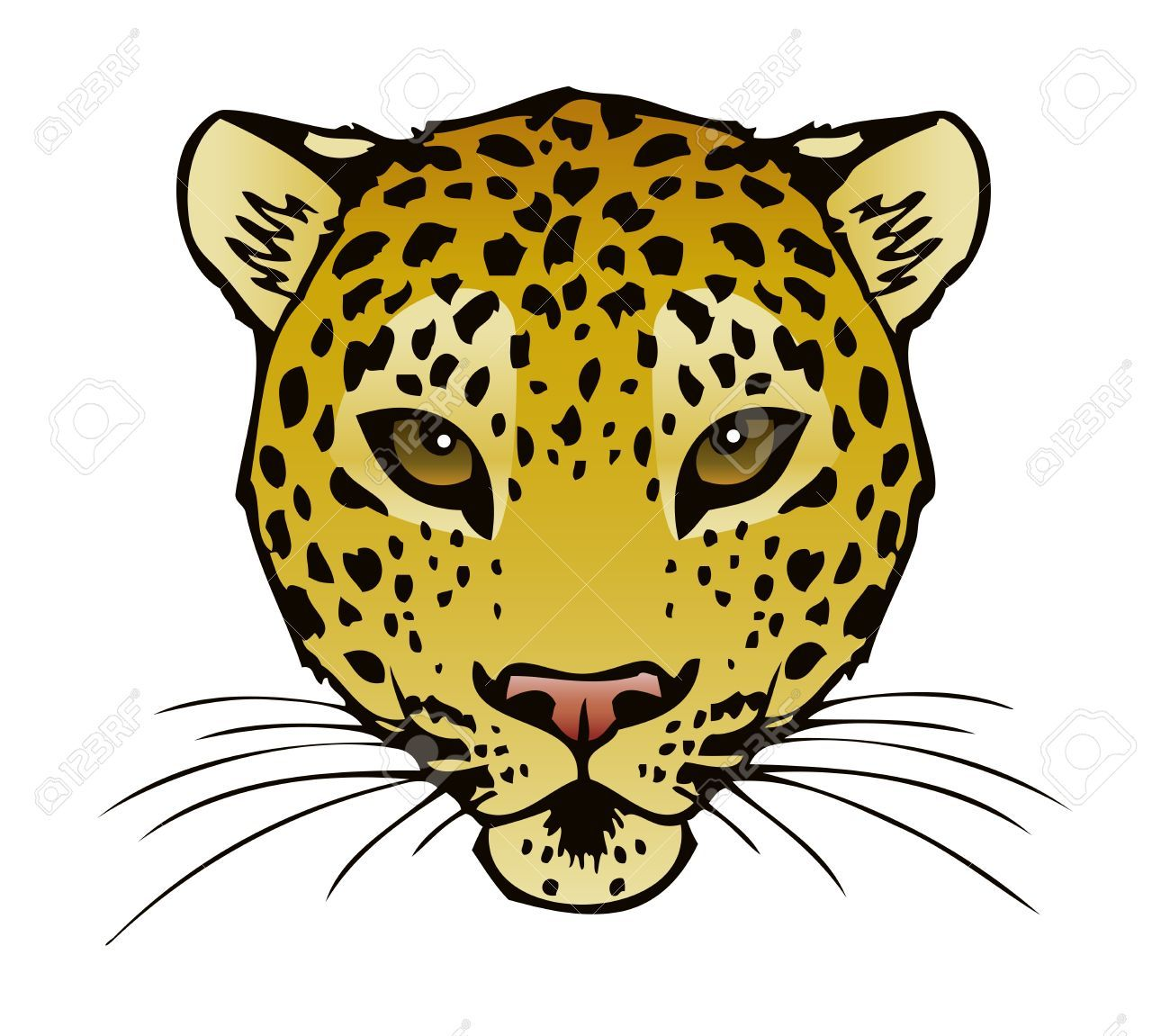 Leopard face clipart image royalty free stock Leopard face clipart 1 » Clipart Portal image royalty free stock