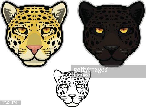 Leopard face clipart clipart free Jaguar OR Leopard Face premium clipart - ClipartLogo.com clipart free