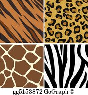 Leopard pattern clipart png black and white Animal Print Clip Art - Royalty Free - GoGraph png black and white