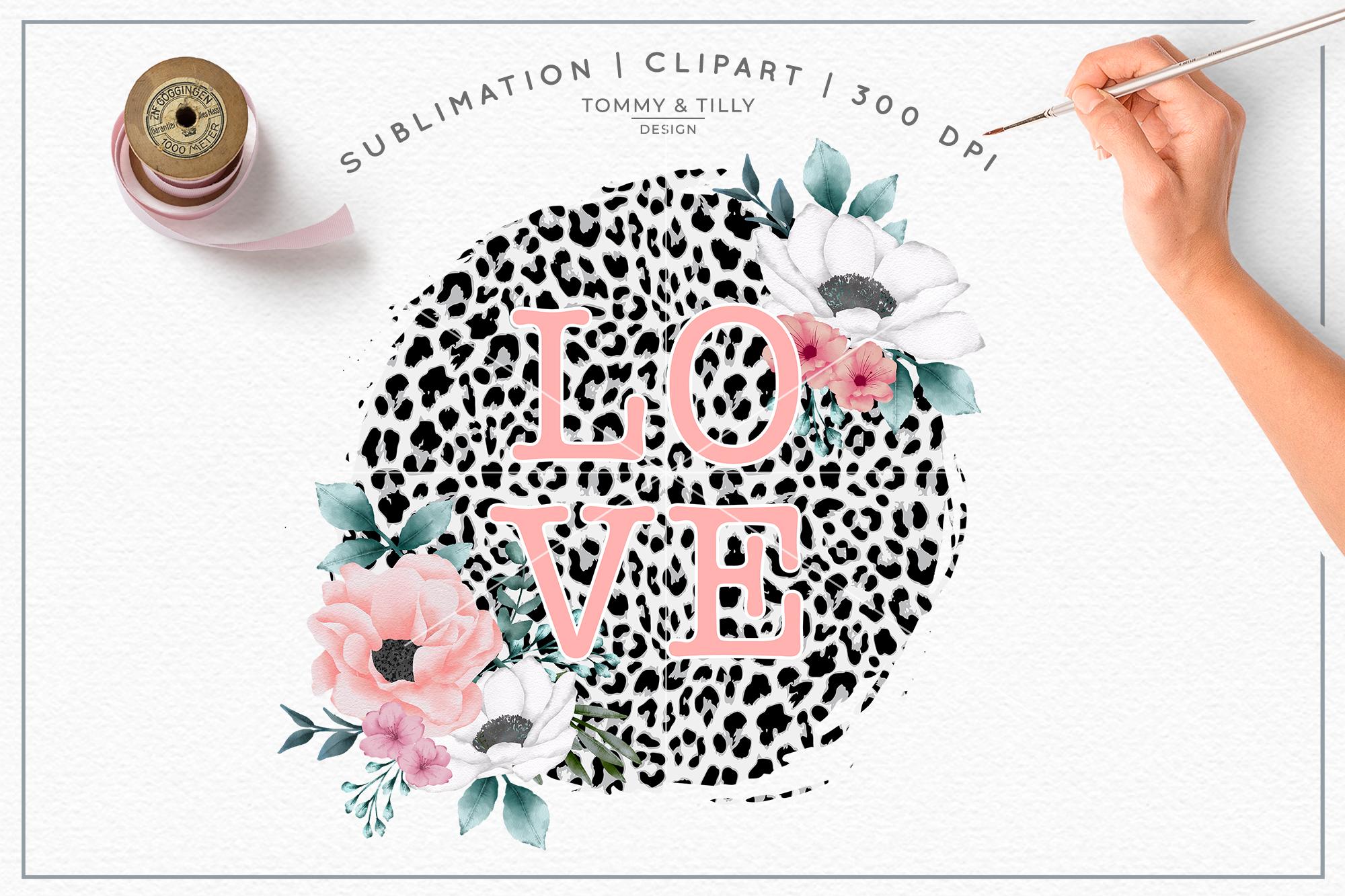 Leopard print clipart clip art stock Love Leopard Print Background - Sublimation PNG Clipart clip art stock