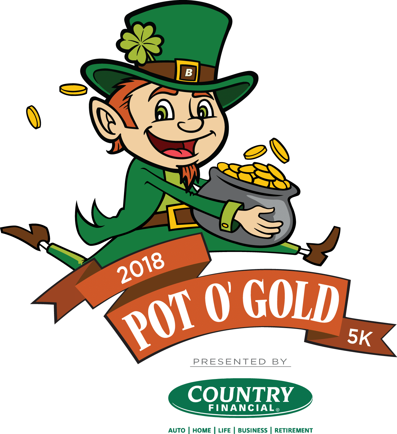 Leperchan with basketball clipart graphic stock Country Financial Pot O' Gold 5K/2 Mile/1K - St Cloud YMCA graphic stock
