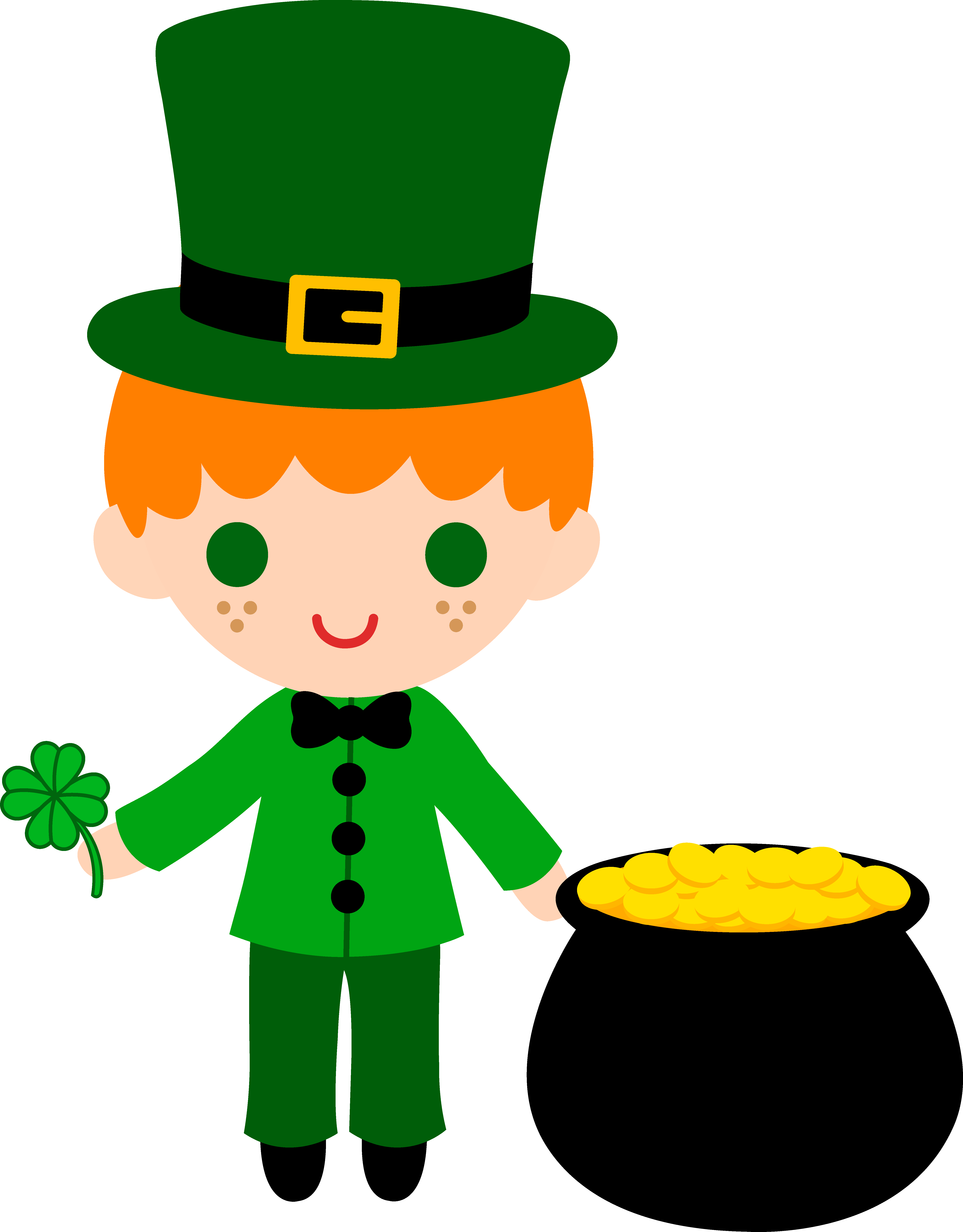 Something wearing a crown kawaii clipart svg library download 28+ Collection of Leprechaun Clipart Free | High quality, free ... svg library download
