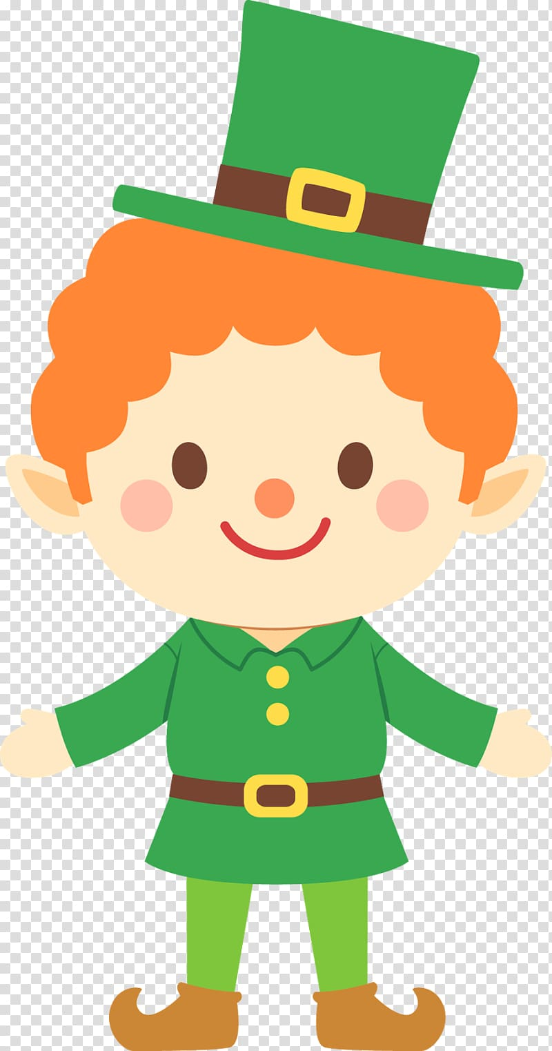 Leprechaun clipart for kids graphic black and white library Leprechaun Saint Patricks Day , March transparent background PNG ... graphic black and white library