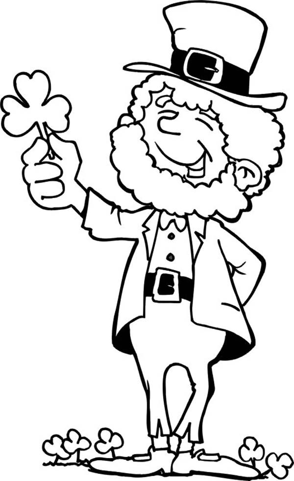 Leprechaun clipart images to color image black and white library Free Pictures Of Shamrocks And Leprechauns, Download Free Clip Art ... image black and white library