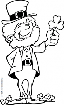 Leprechaun clipart images to color picture black and white stock Printable Leprechaun St Patricks Day Coloring pages - Printable ... picture black and white stock