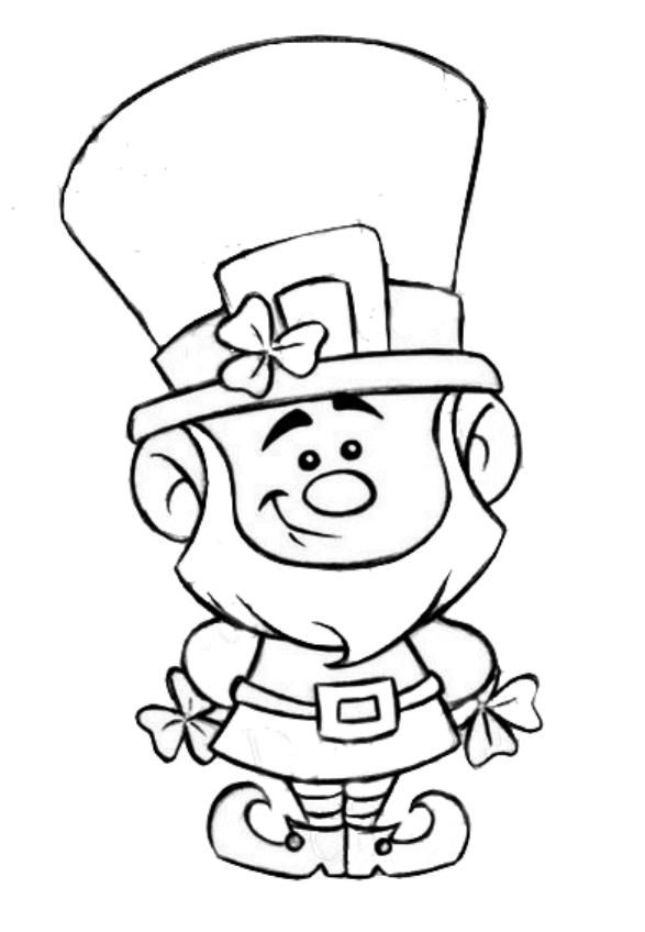 Leprechaun clipart images to color clip art stock St. Patrick\'s Day - Leprechaun - Coloring Page | 00 Clipart: Holiday ... clip art stock