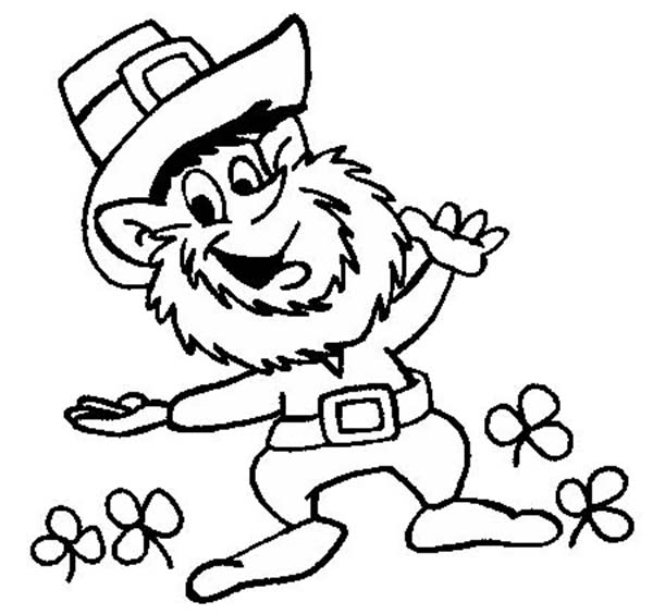 Leprechaun clipart images to color clipart freeuse Free Leprechaun Outline, Download Free Clip Art, Free Clip Art on ... clipart freeuse