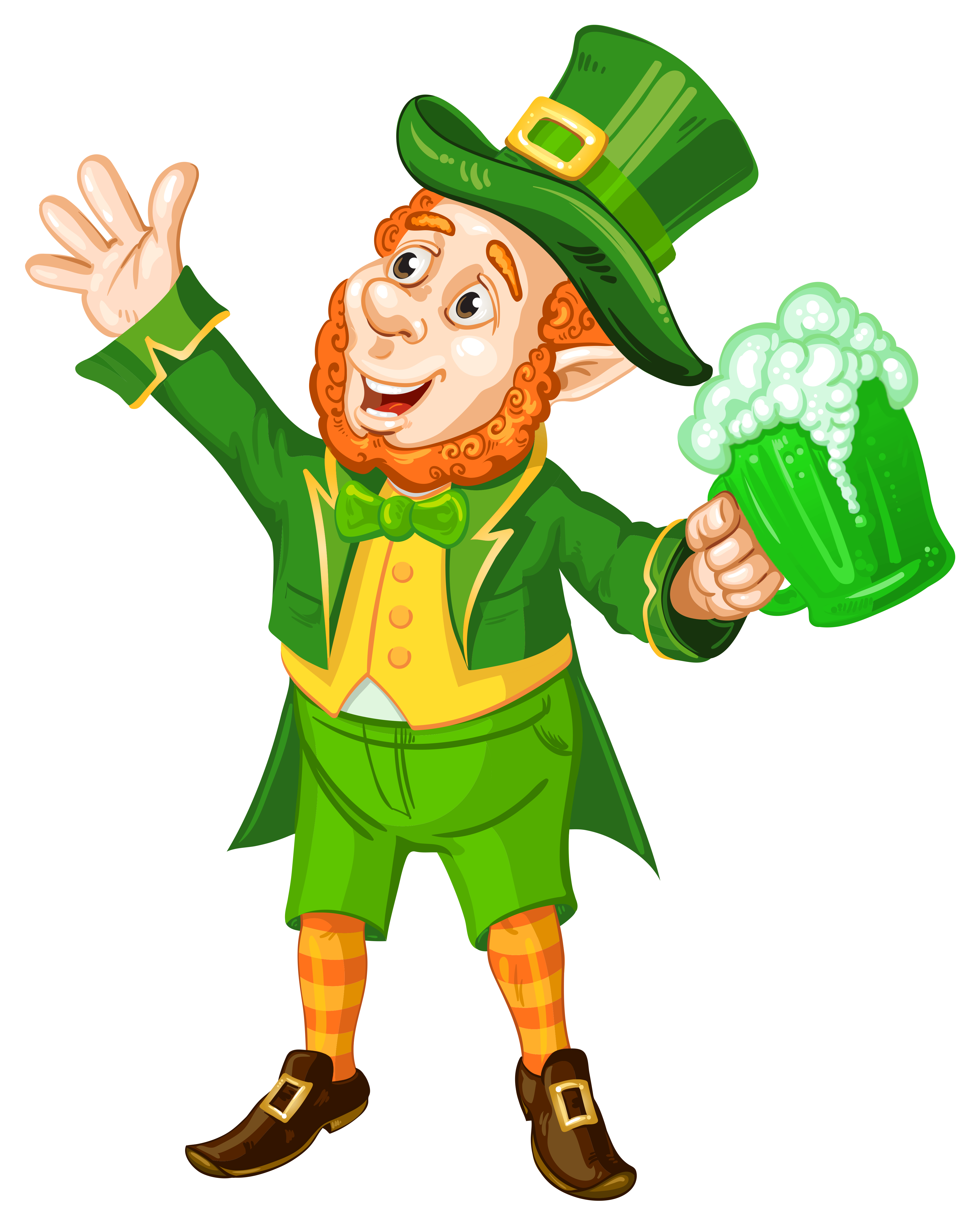 Leprechaun clipart png clipart transparent St Patrick Day Leprechaun with Green Beer Transparent PNG Picture ... clipart transparent