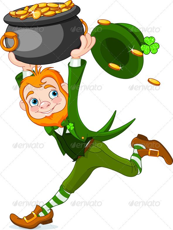 Leprechaun trap clipart clipart black and white library Running Leprechaun | St Paddy Day | Leprechaun gold, Leprechaun ... clipart black and white library