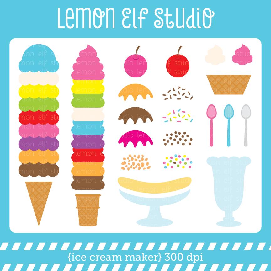 Les cliparts clip art free library Ice Cream Maker-Digital Clipart (LES.CL014) – Lemon Elf Studio clip art free library