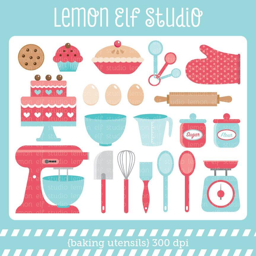 Les cliparts svg royalty free download Baking Utensils-Digital Clipart (LES.CL11) – Lemon Elf Studio svg royalty free download