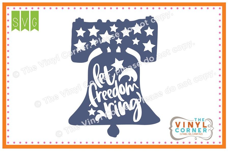 Let freedom ring clipart jpg freeuse library Applique Corner Let Freedom Ring Cuttable SVG Clipart Design jpg freeuse library
