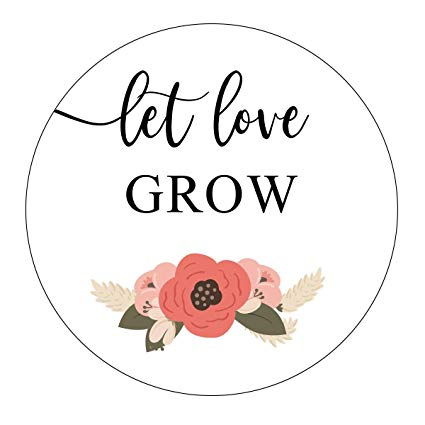 Let love grow clipart svg black and white Let Love Grow Stickers, Navy Blue and Blush Wedding, Let Love Grow Favor  Stickers, Labels, Seed Favors, Love Grow, Favor Stickers, Flower, Floral,  ... svg black and white