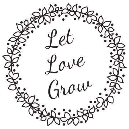 Let love grow clipart picture stock Let Love Grow Berry Wreath Stamp picture stock