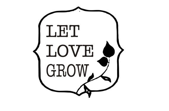Let love grow clipart clip royalty free download Let Love Grow custom rubber stamp for personalized flower seed ... clip royalty free download