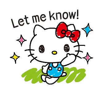Let me know clipart clip free Hello Kitty Let Me Know GIF - HelloKitty LetMeKnow Cartoon - Discover &  Share GIFs clip free