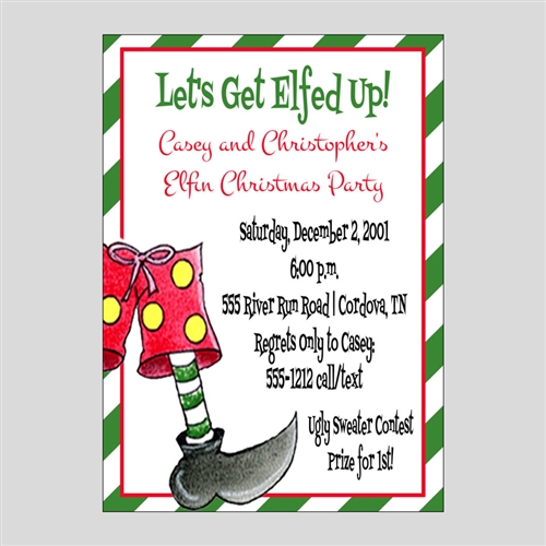 Let s get elfed up clipart png royalty free download Elfed Up Printable Invitations png royalty free download