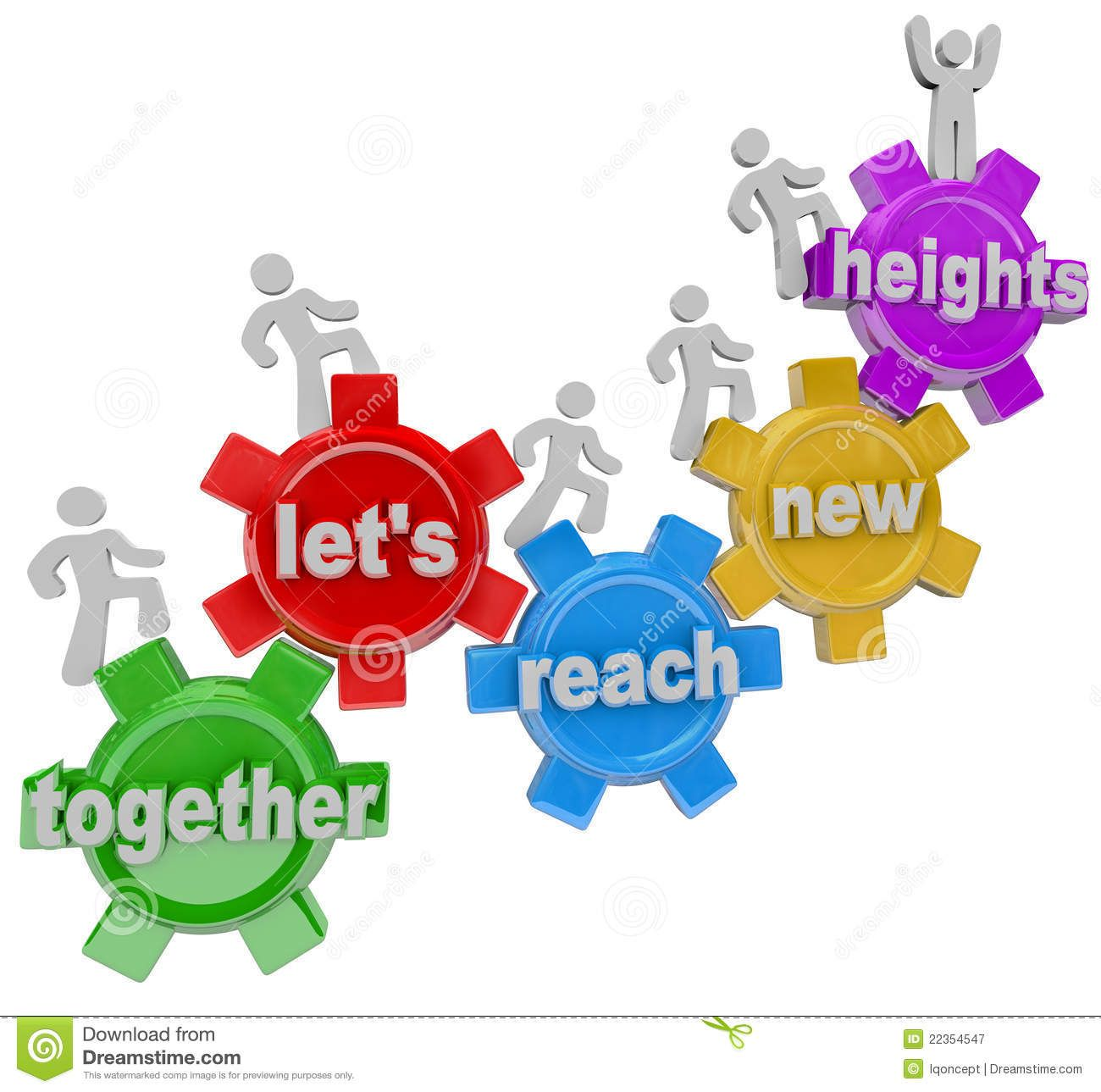 Let s get together clipart svg royalty free stock Together Let\'s Reach New Heights Team On Gears - Download From Over ... svg royalty free stock
