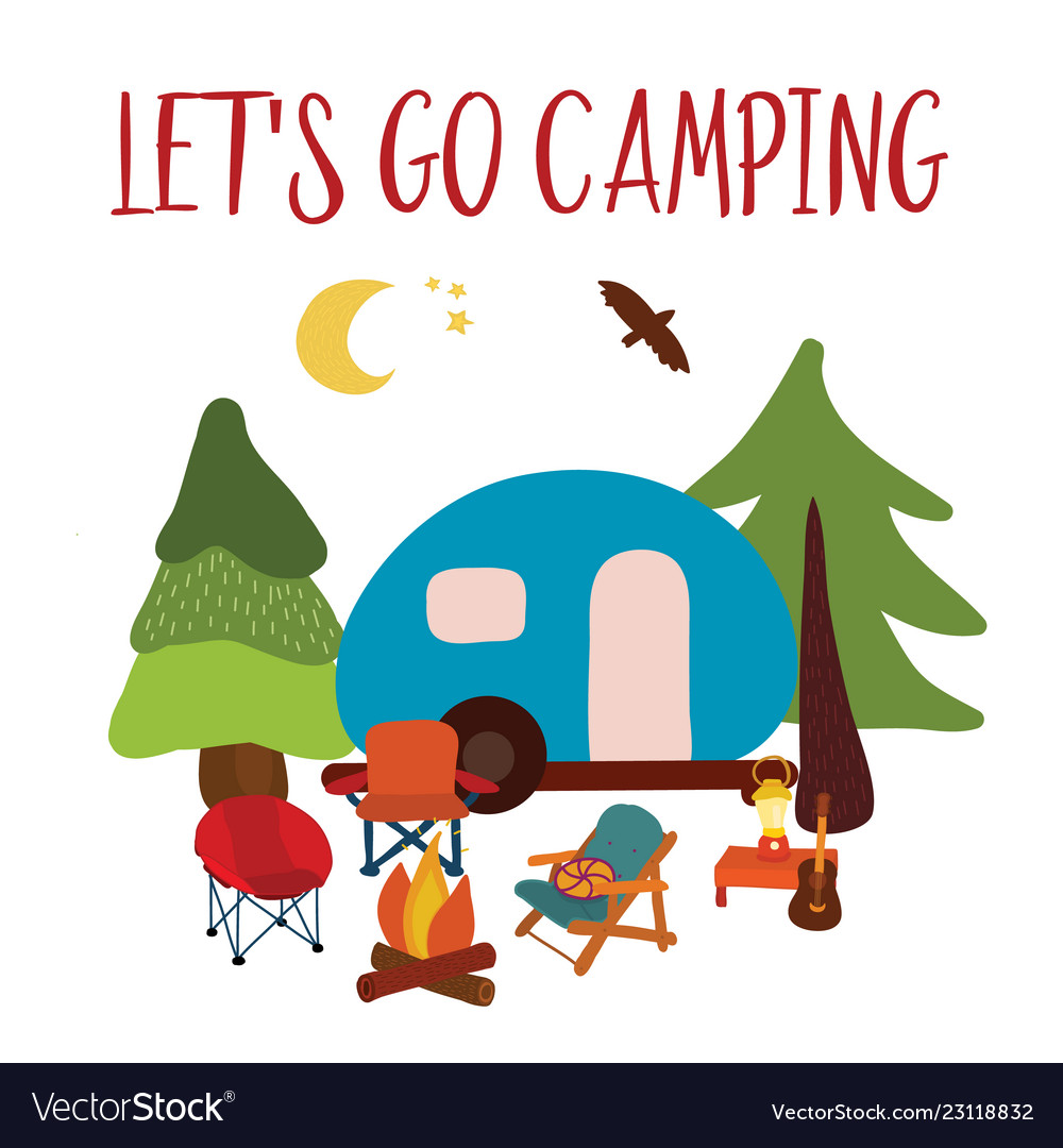Let s go clipart clip art royalty free stock Lets go camping summer travel clip art royalty free stock
