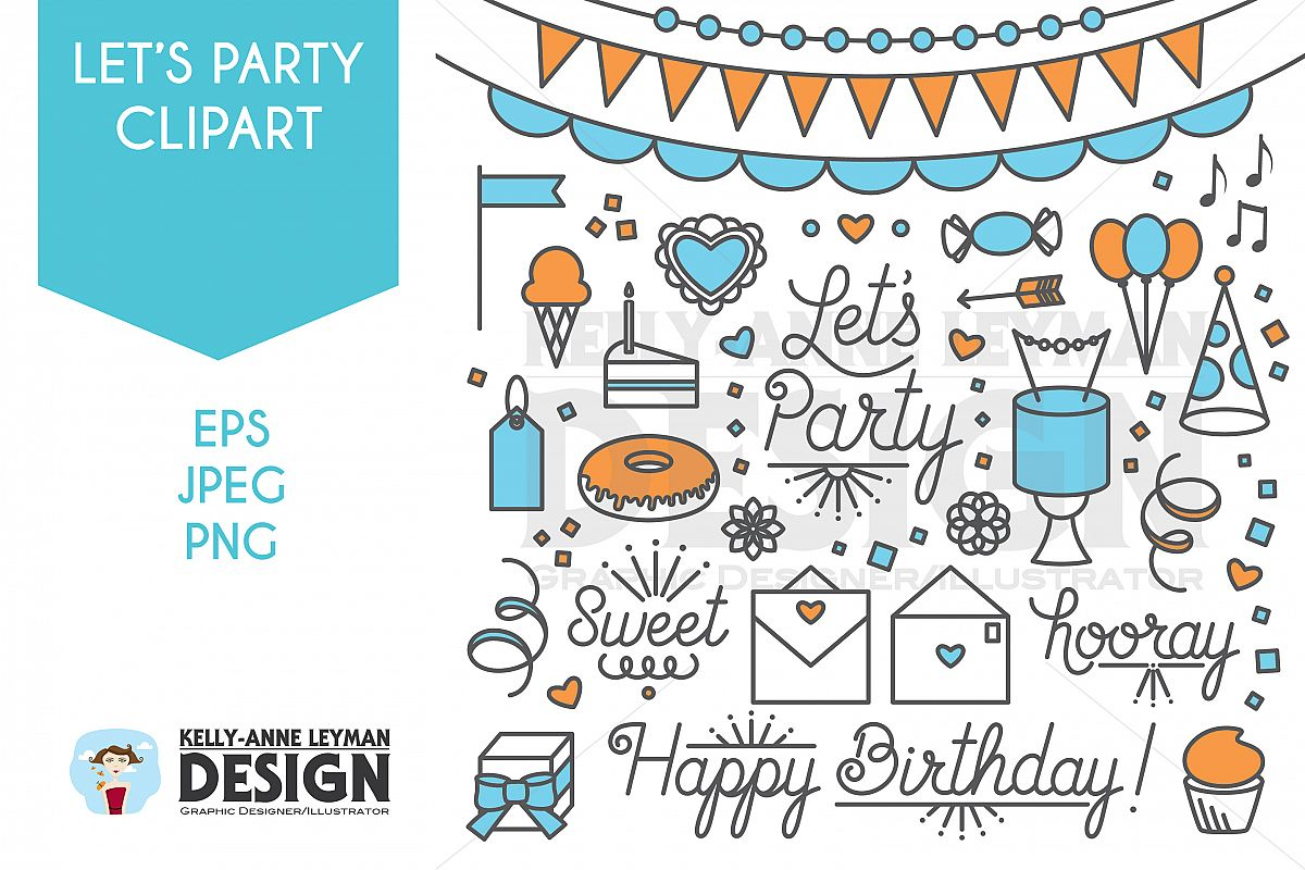 Let s use kind words to each other clipart free library Happy Birthday, Lets Party Clipart, Word Clip Art Set free library