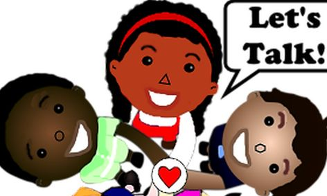 Let s use kind words to each other clipart graphic black and white stock Conversation Skills- Summer Camp   Small Online Class for Ages 8-11    Outschool graphic black and white stock