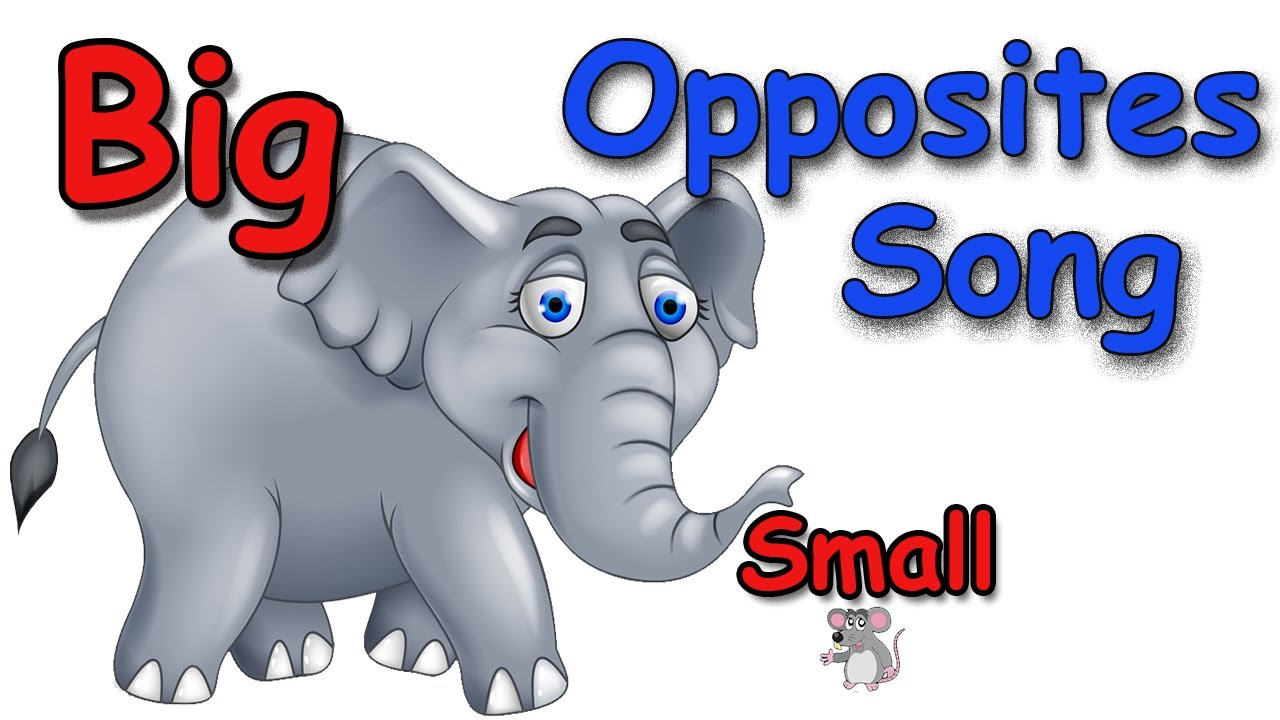 Big and small animals clipart clipart free download Opposites - Opposites Songs for Children - Kids Songs by The Learning  Station clipart free download