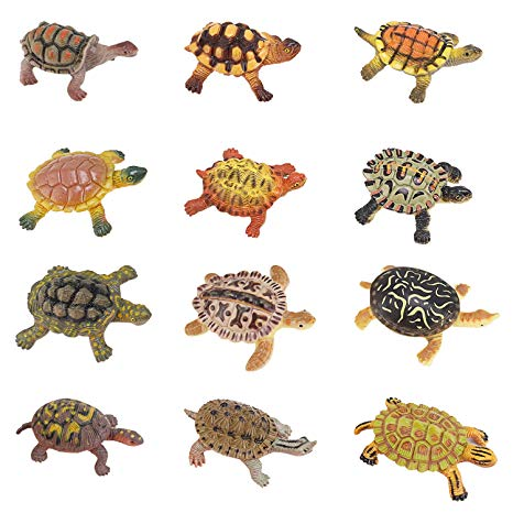 Let the sea set you free tutrtle clipart vector freeuse download Liberty Imports Realistic Sea Turtle Miniature Figurines - 12 Unique  Turtles Detailed and Hand Painted Reptile Toys for Kids vector freeuse download