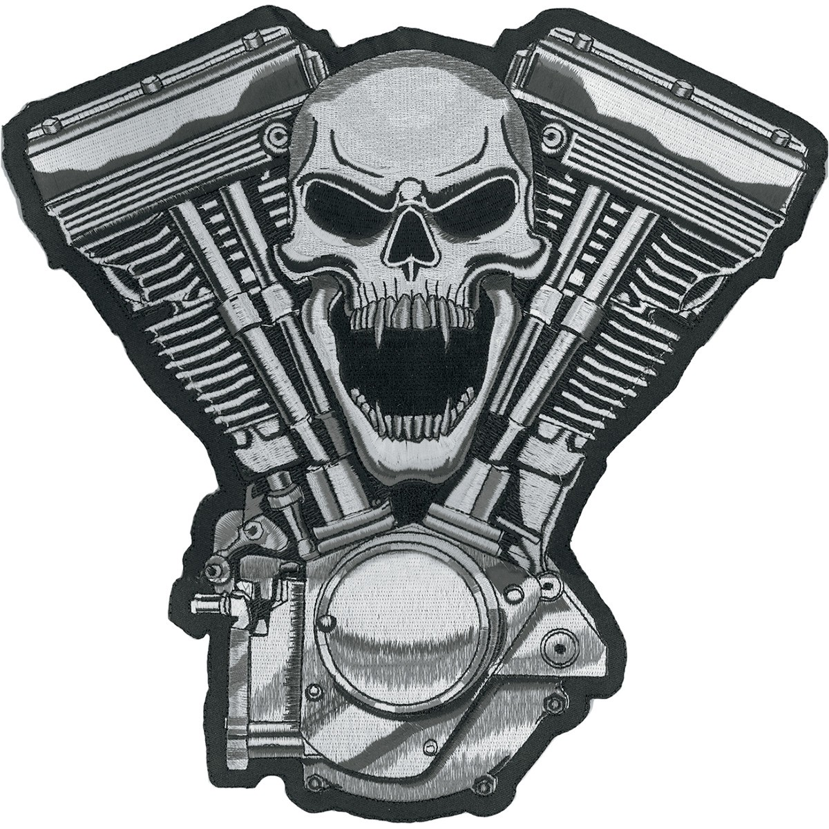 Lethal threat clipart vector library Lethal Threat Skull Motor Embroidered Patch vector library