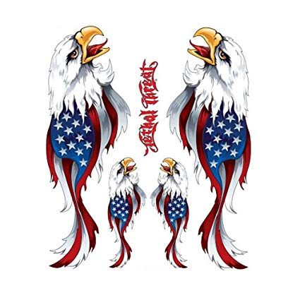 Lethal threat clipart png free stock Pilot Automotive LT-90101-2 Lethal Threat Designs USA Eagle Left Right  American Flag Flaring Body Decal png free stock