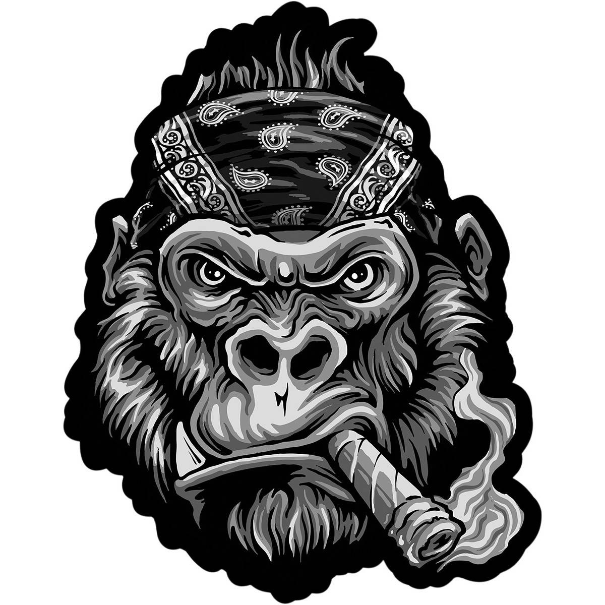 Lethal threat clipart picture black and white library Lethal Threat Band Gorilla Patch picture black and white library