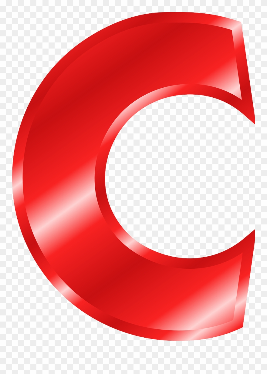 Letra c em clipart graphic free Letra C Vermelha Png Clipart (#101685) - PinClipart graphic free