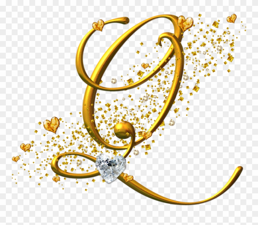Letras doradas clipart vector royalty free download Alfabeto Dorado Con Corazones - Fuente De Letras R Clipart (#1747548 ... vector royalty free download