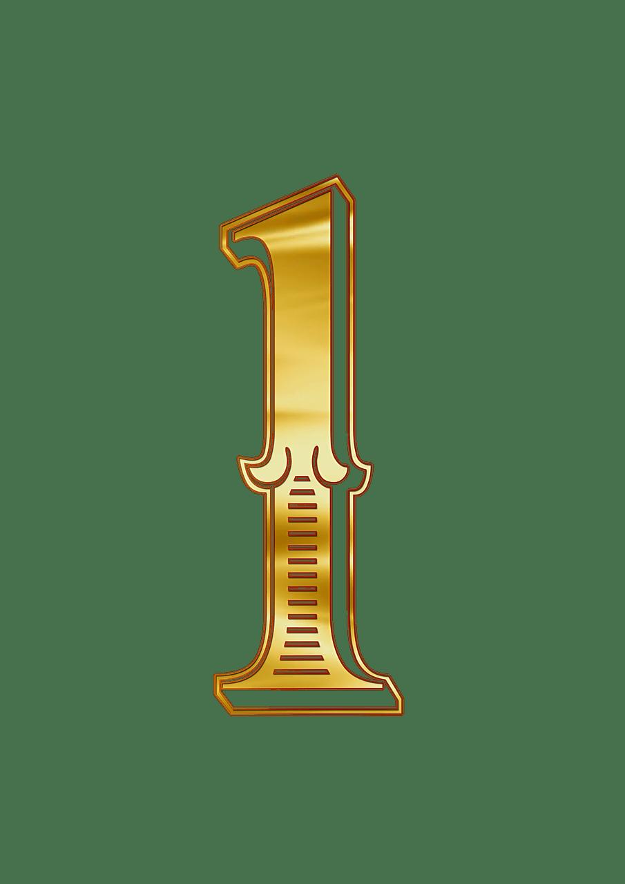 Letras doradas clipart graphic download Número Dorado 1 clipart | SZÁMOK - GYÖNYÖRŰ ! | Numeros dorados ... graphic download