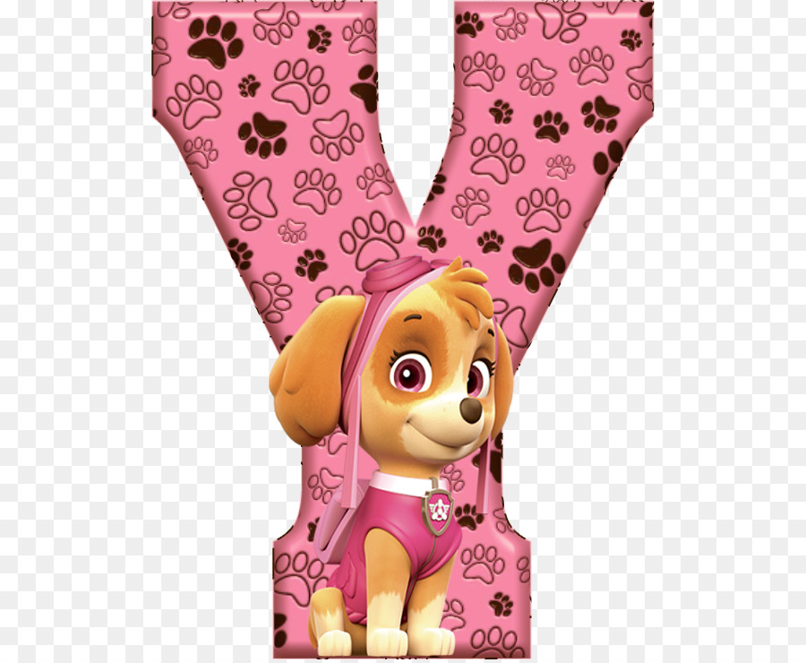 Letras paw patrol clipart vector freeuse library Paw Patrol Background clipart - Alphabet, Letter, Pink, transparent ... vector freeuse library