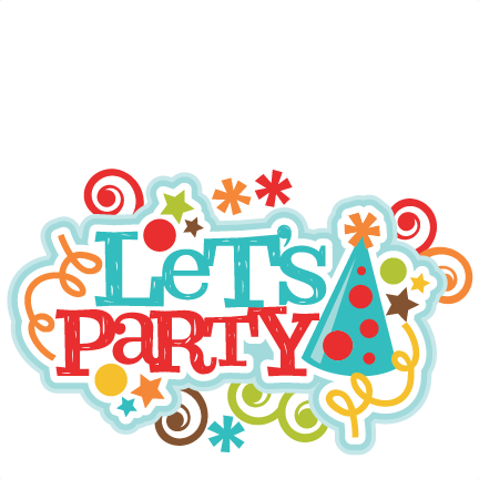 Lets party clipart graphic freeuse library Let\'s Party Title SVG Scrapbook Cut File Cute Clipart Files ... graphic freeuse library