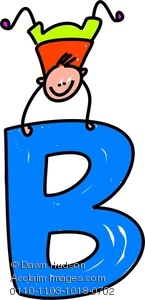Letter b clipart svg download Clipart Image of A Happy Little Boy Climbing Over A Giant Letter B ... svg download