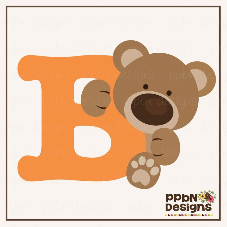 Letter b clipart bear graphic royalty free library 1000+ images about Fieltro on Pinterest | Jungle animals, Clip art ... graphic royalty free library