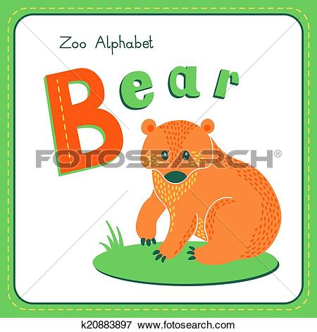 Letter b clipart bear picture library stock Clip Art of Letter B - Bear k20883897 - Search Clipart ... picture library stock
