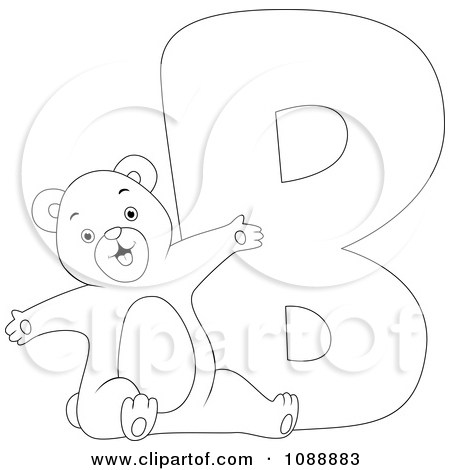 Letter b clipart bear graphic royalty free library Letter B Bear Coloring Page. best letter b coloring pages coloring ... graphic royalty free library
