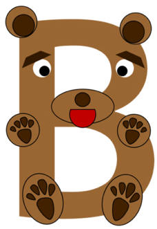 Letter b clipart bear banner freeuse library Letter b clipart bear - ClipartFest banner freeuse library