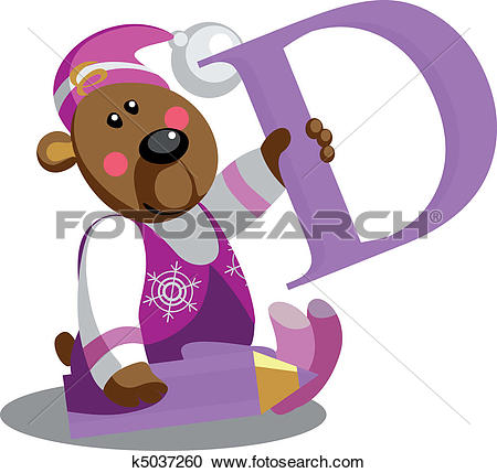 Letter b clipart bear clip art freeuse stock Clipart of Smile bear with alphabet letter B in color 01 k5037260 ... clip art freeuse stock