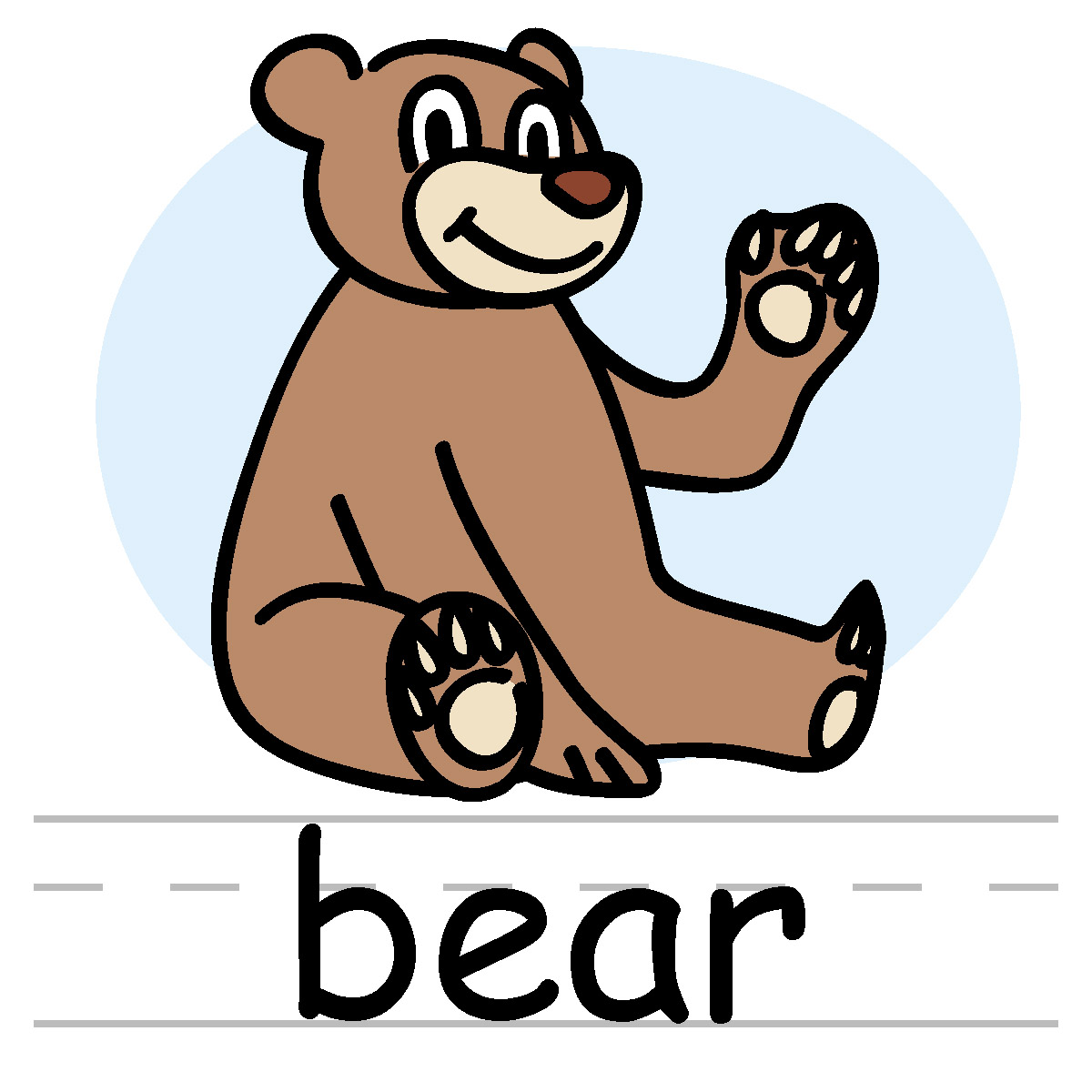 Letter b clipart bear vector freeuse Letter b clipart bear - ClipartFest vector freeuse