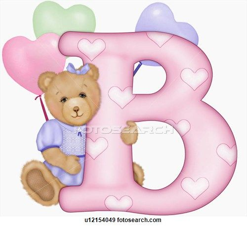 Letter b clipart bear png transparent stock The capital letter B with teddy bear | Cute Printables | Pinterest ... png transparent stock