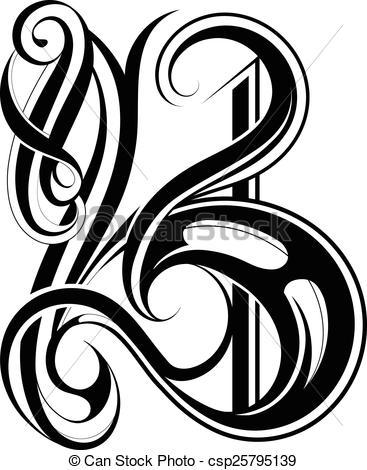 Letter b clipart free caligraphy jpg freeuse stock Letter b clipart free calligraphy - ClipartFest jpg freeuse stock