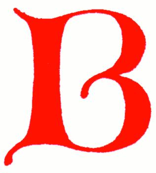 Letter b clipart free caligraphy svg royalty free library Clip-art: calligraphic decorative initial capital letter B from ... svg royalty free library