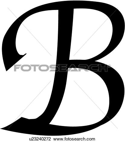 Letter b clipart free caligraphy graphic download Clipart of , alphabet, b, block, calligraphy, capital, chisel ... graphic download