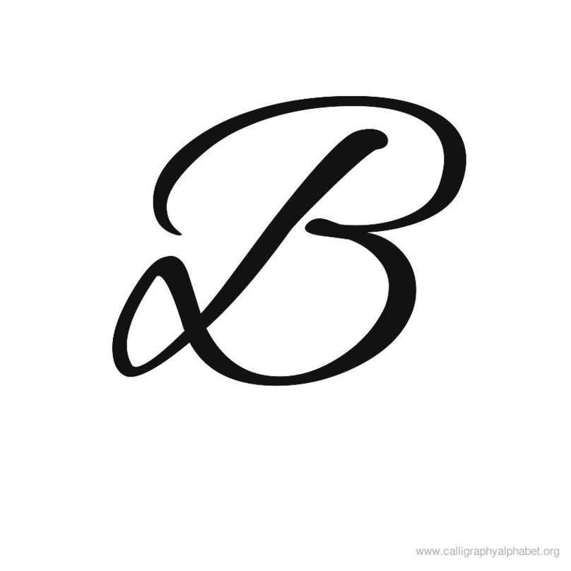 Letter b clipart free caligraphy clip library download Letter b clipart free calligraphy - ClipartFest clip library download